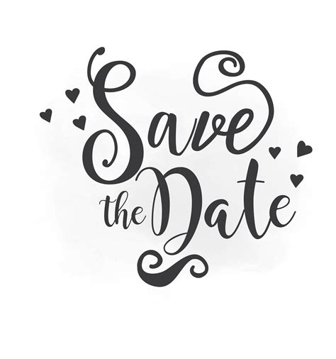 Save The Date Svg Clipart Wedding Annuncment Save The Date Hold The Date Templates