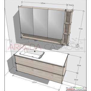 mobile contenitore bagno mobile bagno compab specchio contenitore prezzo web