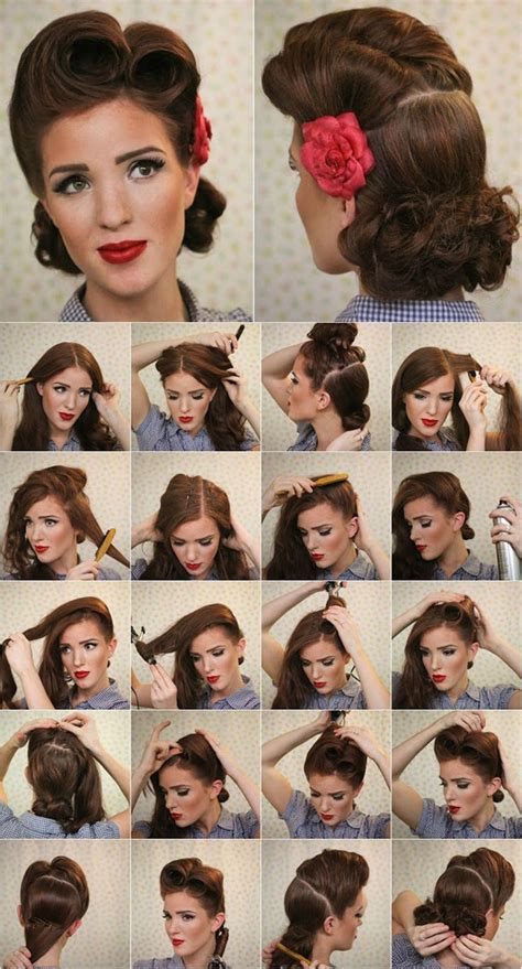 Simple Pin Up Hairstyle by Simple Pin Up Hairstyles Fade Haircut