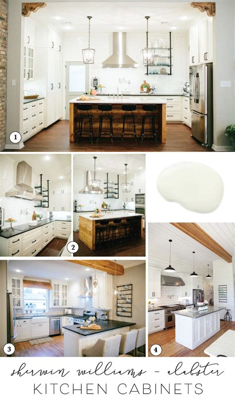 best sherwin williams white for cabinets best paint for cabinets joanna s favorite kitchen cabinet