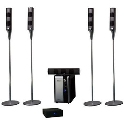 frisby rear wireless home theater tower speaker system 5 1