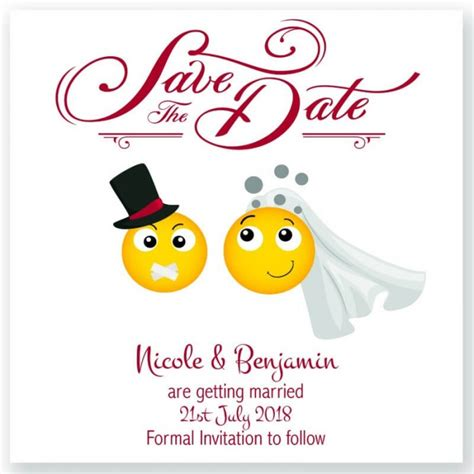 Save The Date Cards by Emoji Save The Date Card Paper Themes Wedding Invites