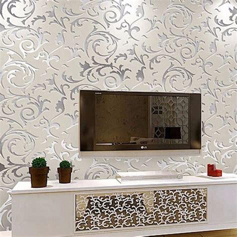 wallpaper dinding motif floral classic european style