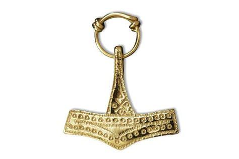 gold thor s hammer pendant swedish gifts
