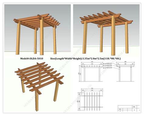 progetto gazebo in legno fai da te pergolato fai da te pergole tettoie giardino