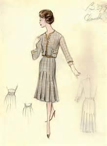 vintage chanel fashion sketches www pixshark