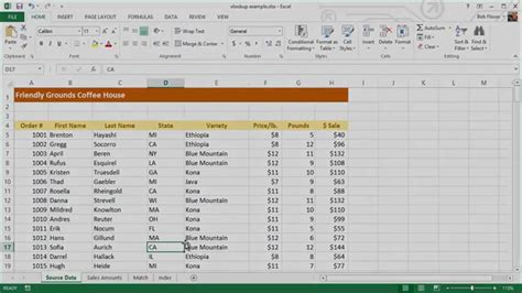 Multi User Spreadsheet by How To Extract Data From A Spreadsheet Using Vlookup