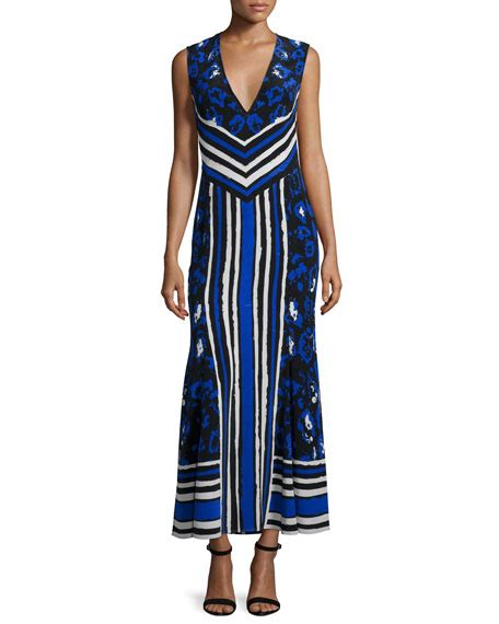 Maxy Dress Jaguar Blue ella moss barbara striped maxi dress azul