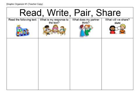 think pair template printables think pair worksheet mywcct thousands