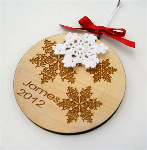 items similar to personalized christmas ornament wooden