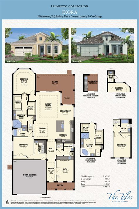 Minto Homes Floor Plans by Isles Of Collier Preserve Ixora Model Naples Fl Minto