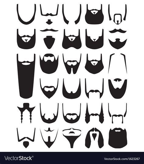 beard silhouettes royalty free vector image vectorstock