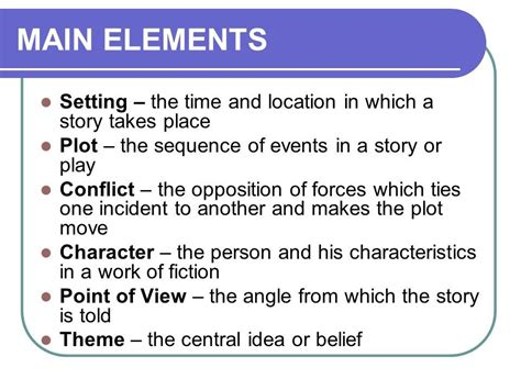 theme in short stories definition the elements of a story information for kids gr 7 9