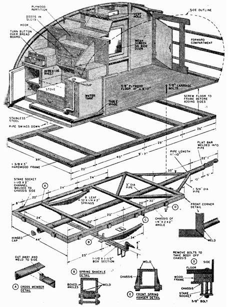 teardrop trailer floor plans 132 best trailer life images on pinterest vintage