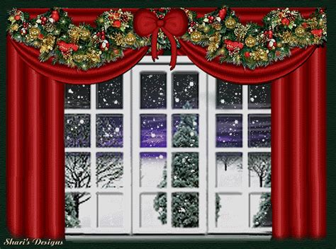 christmas windows animated images gifs pictures animations