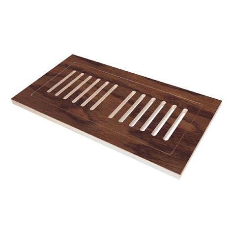 engineered hardwood flush mount floor register  hand scraped oak verona