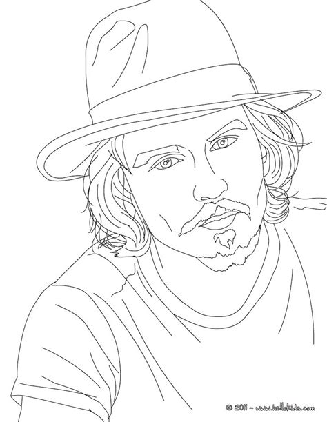 johnny depp coloring pages hellokids com