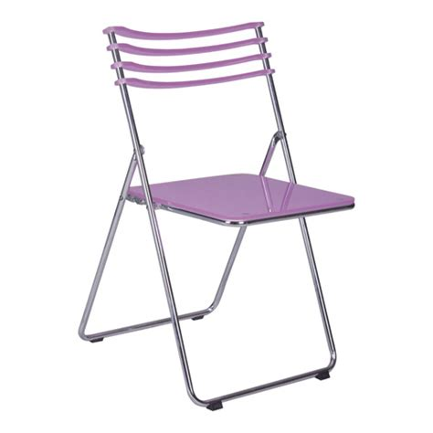 purple folding chair purple simple acrylic foldable outdoor chair in steel from