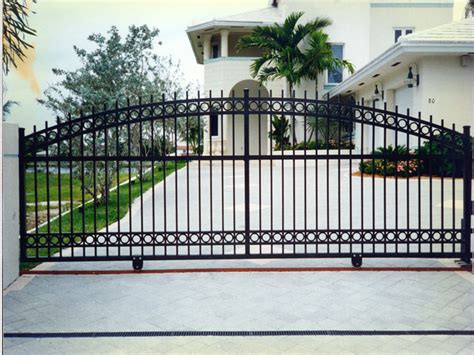 sliding steel gates iron fence gate design metal sliding gate