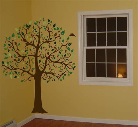 big tree wall stickers decals by digiflare 6 ft big tree brown green wall decal sticker mural