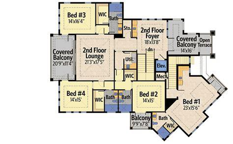 four second floor balconies 31822dn 1st floor master four second floor balconies 31822dn 1st floor master