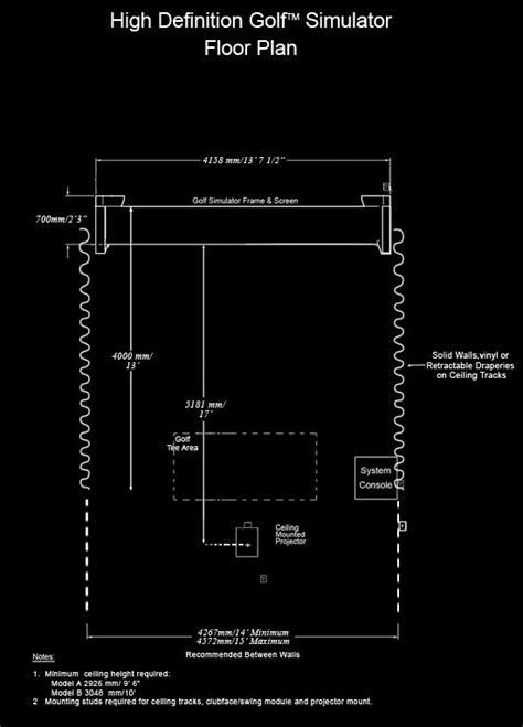 floor plan simulator floorplan for golf simulator mancave golf