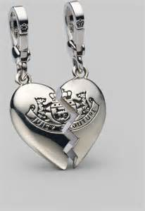Juicy couture broken heart charm set in silver lyst