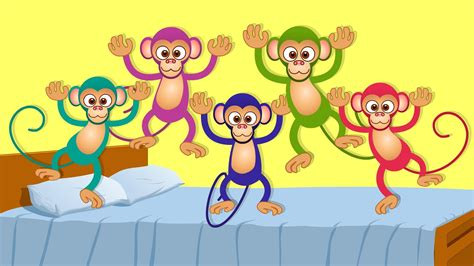 4 little monkeys jumping on the bed five little monkeys kids songs and nursery rhymes for