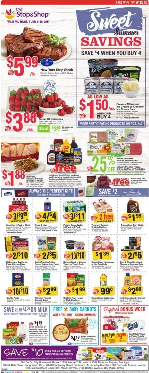 stop  shop circular june    big savings weekly ads