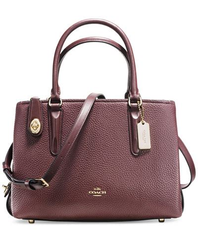 coach carryall 28 in pebble leather handbags accessories macy s