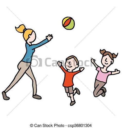 clipart bambino bimbo palla bambini giocando palla immagine