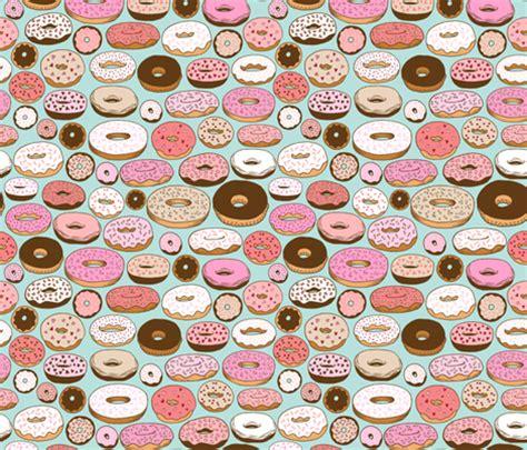 donuts on blue fabric   kristinnohe   Spoonflower