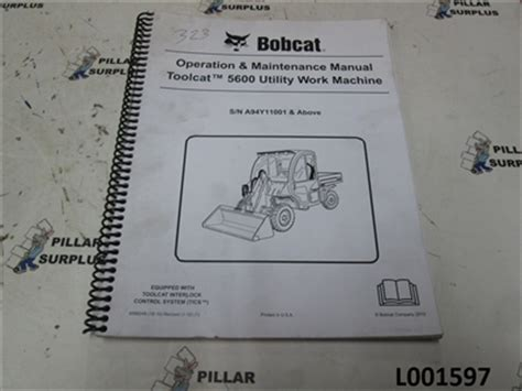 Bobcat Operation Amp Maintenance Manual For Toolcat5600