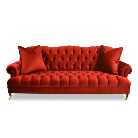 red velvet tufted sofa tufted velvet sofa blue velvet tufted sofa chloe
