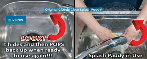 splash paddy set of 2 sink splash guards qvc com home splash paddy