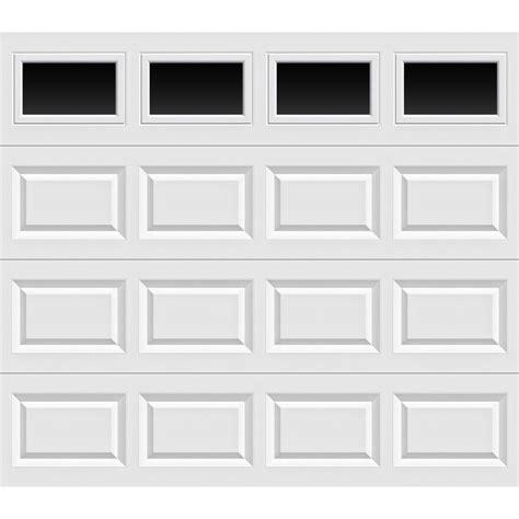 8 X 8 Garage Door Clopay Value Series 8 Ft X 7 Ft Non Insulated White Garage Door With Plain Windows Hdb Sw