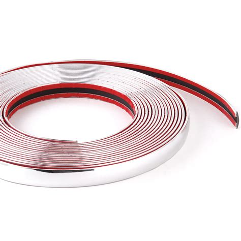 self adhesive cabinet edging tape 8m self adhesive chrome car styling moulding edging trim