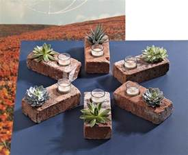 make a brick succulent planter candle holder 187 curbly