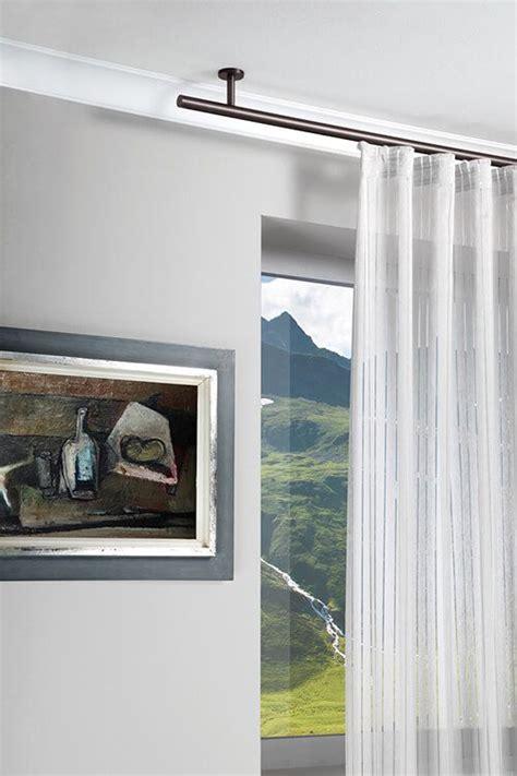 Plissee Decke by Gardinenstange Rund An Der Decke In Schwarz Vielf 228 Ltige