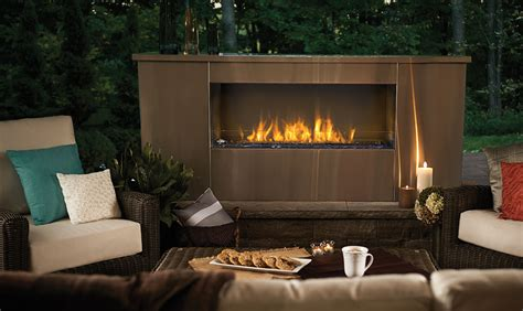 Exterior Gas Fireplace by Napoleon See Thru Fireplace Galaxy 48 Gss48