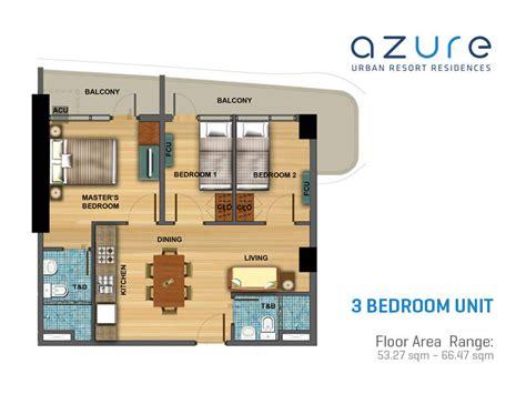 3 Bedroom Units Queenstown Azure Resort Residences Condominium Slex West