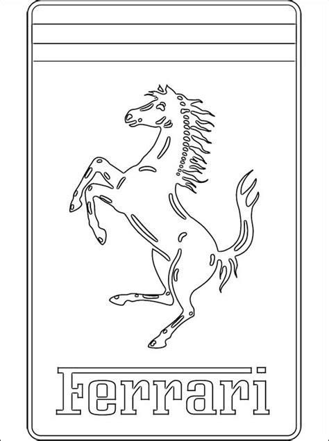 Coloriage Logo Ferrari dessin gratuit à imprimer