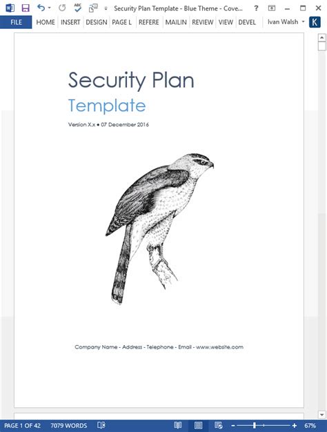security plan template