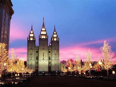 templo morm 243 n en navidad fondos de pantalla gratis