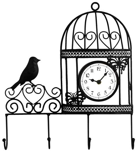 Bird Cage Wall Clock decorative wall mounted bird cage wall clock and coat
