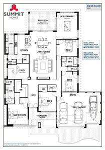 House Plans With Big Bedrooms Floor Plan Friday Open Living With Triple Garage