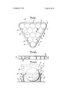 Pool Rack Dimensions by Patent Us3863919 Billiard Rack Patents
