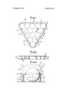 Billiard Table Dimensions by Patent Us3863919 Billiard Ball Rack Google Patents