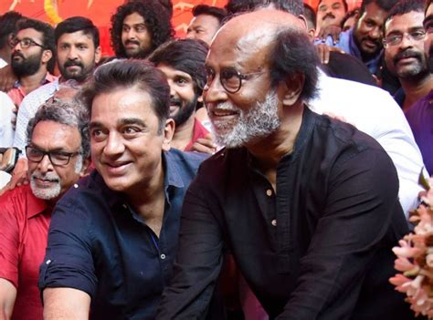 actor rajinikanth party name alliance in the works haasan meets rajinikanth days