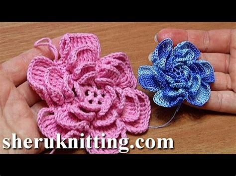 como hacer flores de crochet crochet fluffy flower tutorial 4 part 1 of 2 como hacer